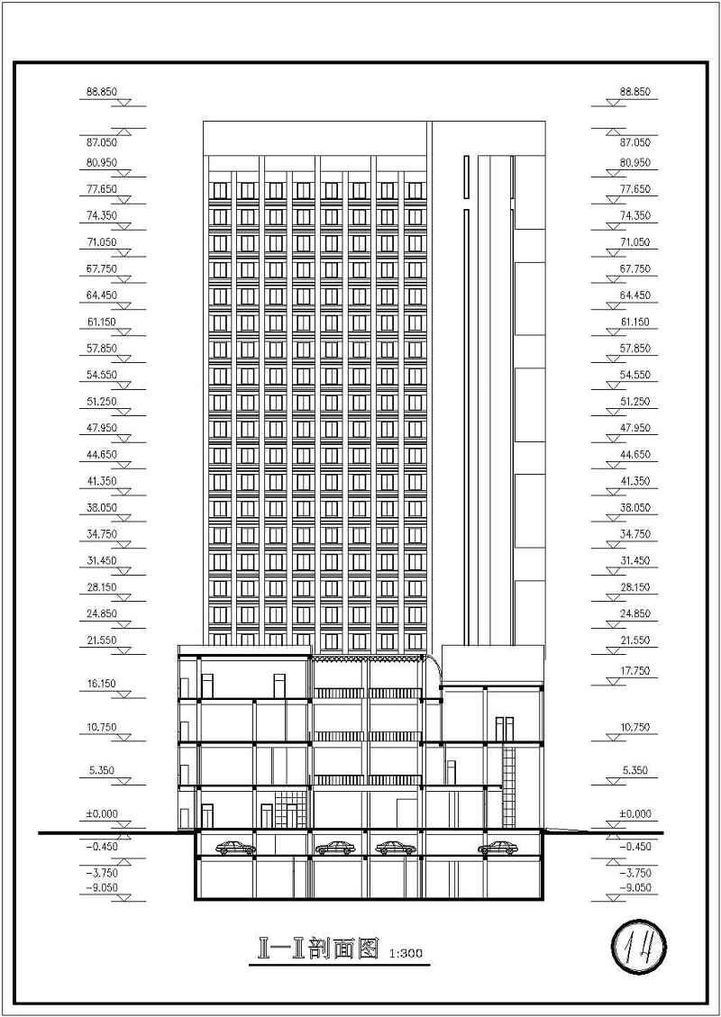 某宾馆公园建筑设计CAD施工图玄武湖高层景观设计v宾馆图片