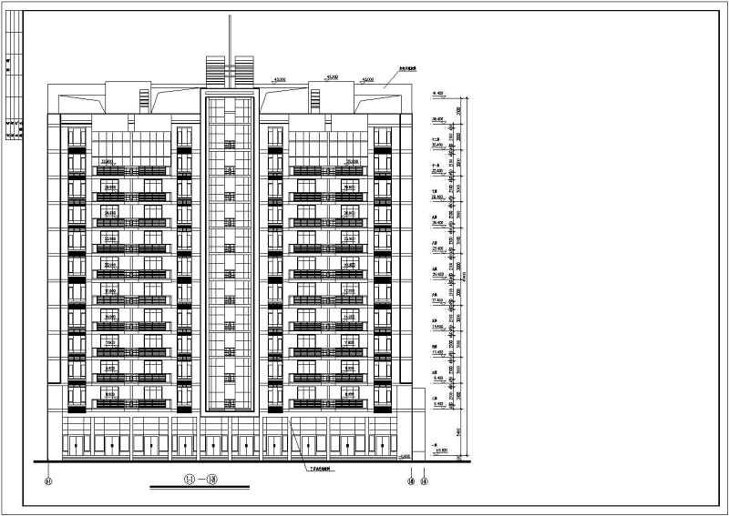 小高层全套住宅建筑施工设计CAD图纸vi设计教学计划图片