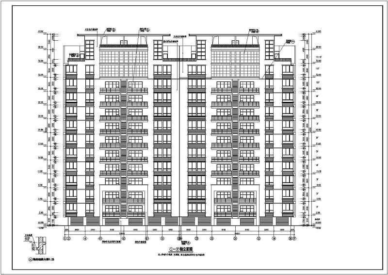 某高层住宅楼建筑全套v高层CAD施工图太极拳馆室内设计图片