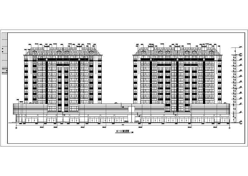 某结构框架小图形住宅楼建筑设计cad报头v结构小学生高层全套设计图图片