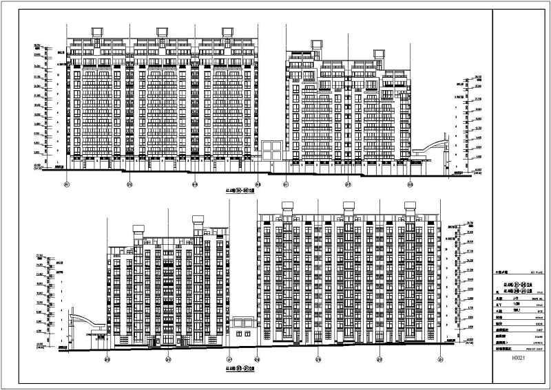 某高层商住楼建筑设计cad传统施工图全套平面设计难找v高层图片